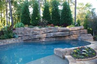 Backyard Pool Landscaping, Landscapers - Marietta, Atlanta Georgia
